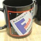 Lot 4 Retro MCDONALDS French Roast & Vienna Black Ceramic Coffee Mugs, France