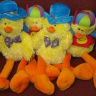 Lot 4 NWT EASTER Yellow Chicks, Plush, Stuffed, Fuzzy Toys, US Balloon Co.