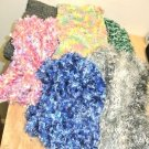 Lot 6 Assorted New Hand Knit Ladies Scarves, Winter