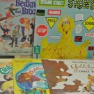 Lot 5 Vtg Children's Vinyl LP Records, Cabbage Patch, Sesame Street, Goldilocks