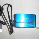 Used Fujifilm FinePix Z70 12.2 MP Digital Camera Blue Works w/ Screen Defect