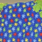 New FLEECE Baby, Kids Double Sided BLANKET, Tie Ends, Frogs, Blue, Green, Multi