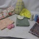 Vintage Sewing Lot, Fabric, Remants, Thread, DRITZ HAM, Ric Rac