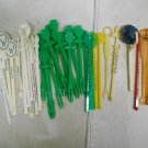 Vintage 41 Piece Swizzle Stick / Bar Stirrer Lot, McDonalds, Calvert, Tropicana