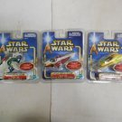 Lot 3 Star Wars Attack of the Clones Force Link Action Figures NIB, Hasbro, 2002