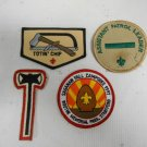 Lot 4 Vintage Boy Scouts America BSA Patches Totin' Chip, Patrol Leader, Saganaw