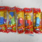 "Lot 6 (5 New) Simpsons PEZ Candy Dispensers, Complete Family, 5"" Long, Sealed"