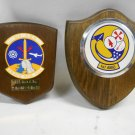 Lot 2 RARE USAF Military Maintenance Award Plaques, 1st AMU & 513 AMS Peace All