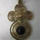 Vintage Retro AVON Goldtone, Onyx Pendant, No Chain