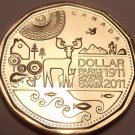 Gem Uncirculated Canada 2011 Loonie Dollar~Canadian Parks~Free Shipping~
