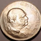 Unc Great Britain 1965 Crown~Winston Churchill~Free Shipping
