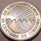 Rare Cameo Proof NicaraGua 1972 10 Centavos~Radiant Sun~20,000 Minted~Free Ship