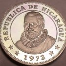 Rare Cameo Proof NicaraGua 1972 5 Centavos~Radiant Sun~20,000 Minted~Free Ship