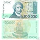 CROATIA 100,000 DINAR AWESOME NOTE GEM UNC~~FREE SHIP~~
