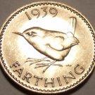 Rare Incredible Gem Unc Great Britain 1939 Farthing~Fantastic~Free Shipping