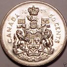 Gem Uncirculated Canada 1975 50 Cents~Fantastic~We Have Canadian Coins~Fr/Shi