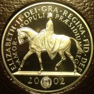 Gem Cameo Proof Great Britain 2002 5 Pounds~Queen's Golden Jubilee of Reign~F/S