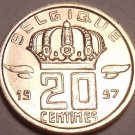 Gem Unc Belgium 1957 20 Centimes~We Have Older Unc Coins 4 Sale~Free Shipping