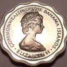 PROOF BAHAMAS 1970 10 CENTS~~SCALLOPED COIN~FISH~FR/SHI