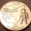 PROOF CAMEO 2002-S OHIO STATE QUARTER ~NICE~FREE SHIP~