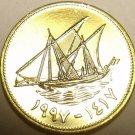 Gem Unc Kuwait 1997 5 Fils~Ship~Rular Jabir Ibn Ahmad~Free Shipping