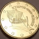 GEM UNC 2008 CYPRUS 10 EURO CENTS~PIRATE SHIP~FREE SHIP