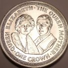Massive Gem Unc Isle Of Man 1985 Crown~The Queen Mother And Prince Phillip~Fr/Sh