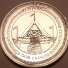 Massive Gem Unc Isle Of Man 1984 Crown~Parliamentary Conference~Free Shipping~