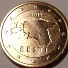 Brilliant Uncirculated Estonia 2012 1 Euro Cent~We Have Estonia Coins~Free Ship