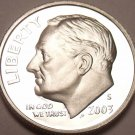 90% SILVER 2003-S CAMEO PROOF ROOSEVELT DIME~FREE SHIP~