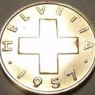 Gem Unc Switzerland 1957-B Rappen~Cross~We Have Gem Unc Coins~Free Shipping