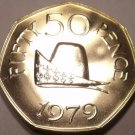 Huge Rare Proof Guernsey 1979 50 Pence~Duke Of Normandy~20k Minted~Free Shipping