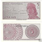 UNC INDONESIA 1964 5 SEN~GREAT PRICE~FREE SHIP INCLUDED