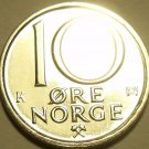 NORWAY 1991 BRILLIANT UNC 10 ORE~LAST YEAR~~FREE SHIP~~