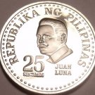 Cameo Proof Philippines 1975 25 Sentimos~Only 37,000 Minted~Proofs R Best~Fr/Shi