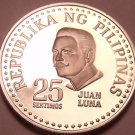 Rare Cameo Proof Philippines 1977 25 Sentimos~4,822 Minted~Free Shipping
