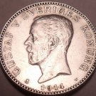 Scarce Silver Sweden 1.9.1.4 Krona~Only Time Minted With Date Like This~Free Shi