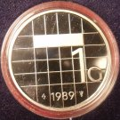 Rare Encapsulated Proof Netherlands 1989 Gulden~15,300 Minted~Free Shipping