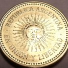 Gem Unc Argentina 2010 5 Centavos~Beautiful Sun-Face Design~Free Shipping