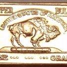 UNC .999 PURE COPPER 1 GRAM BUFFALO BAR~FREE SHIPPING~