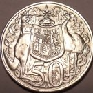 Huge Silver Unc Australia 1966 50 Cents~1st Year Ever Minted~Free Shipping