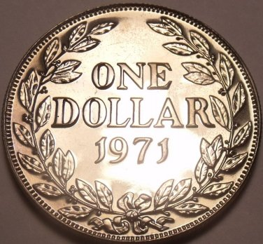 Extremely Rare Huge Proof Liberia 1971 Dollar~Only 3,032 Ever Minted~Free Ship