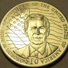 Large Gem Unc Liberia 2000 10 Dollars~George Bush~We Have Thousands Of Unc Coins