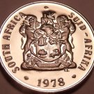 Rare Proof South Africa 1978 10 Cents~Only 7,000 Ever Minted~Aloe Plant~Free Shi