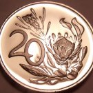 Rare Proof South Africa 1976 20 Cents~Only 7,000 Ever Minted~Protea Flower~Fr/Sh