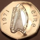 Rare Proof Ireland 1971 50 Pence~1st Year~Woodcock~50,000 Minted~Free Shipping