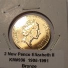 Gem Uncirculated 1988 2 Pence~Welsh Plume~Free Shipping