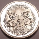 Cameo Proof Australia 1981 5 Cents~Short-Beaked Spiney Ant-Eater~Free Shipping