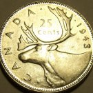 Unc Silver Canada 1943 25 Cents~Excellent~Free Shipping~See Our Silver Coins~