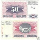 BOSNIA & HERZEGOVINIA 50 DINARA WILD GEM UNC NOTE~FR/SH